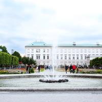 Bermain catur di pusat kota Salzburg